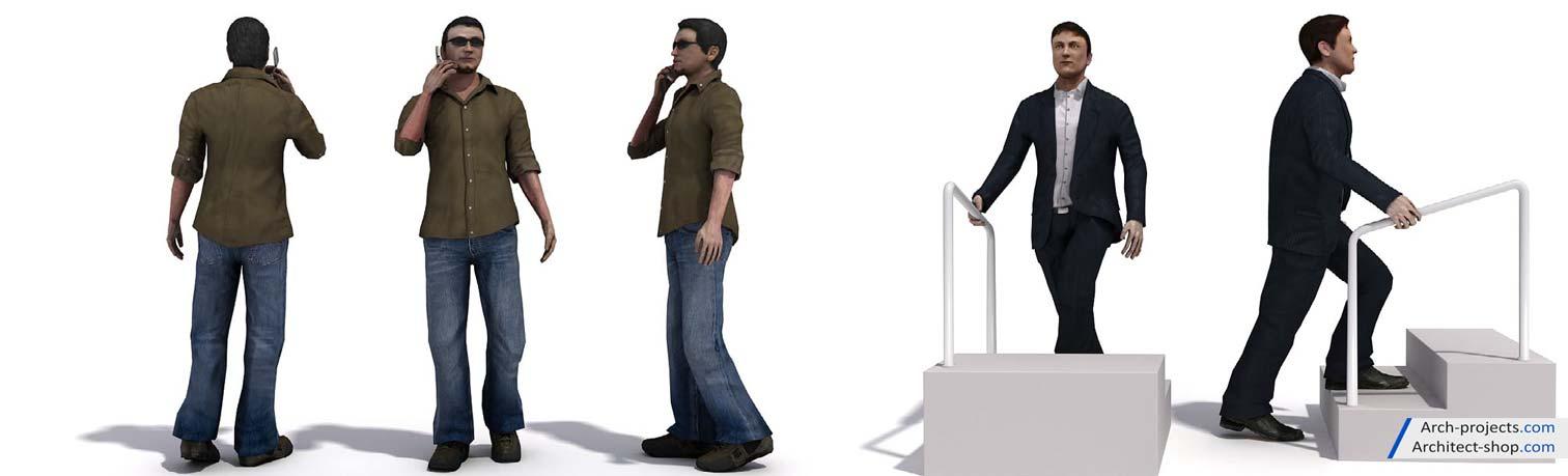 مدل سه بعدی مرد