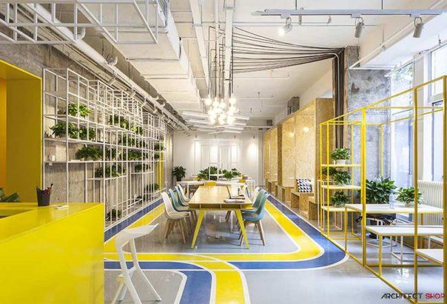 طراحی خلاقانه دفتر کار MAT با فضایی انعطاف پذیر
