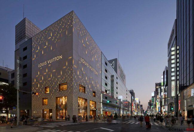 طراحی فروشگاه LOUIS VUITTON در توکیو
