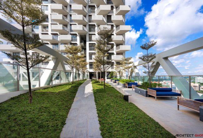 طراحی مجتمع مسکونی آسمان توسطشرکت معماری Safdie Architects