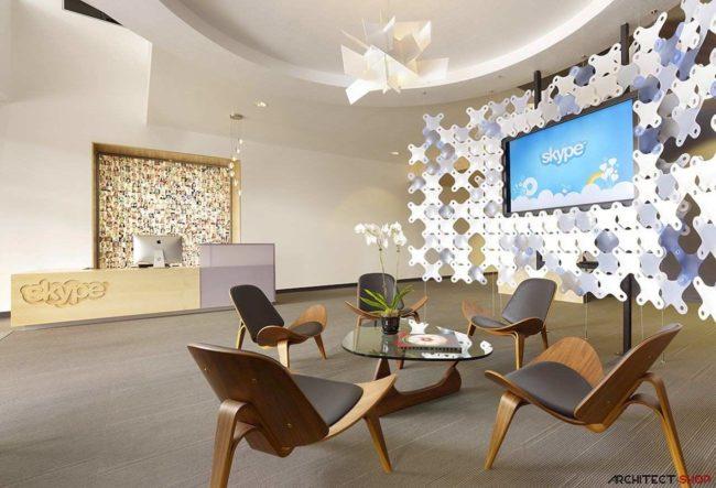 طراحی دفتر کار skype در ایالات متحده آمریکا