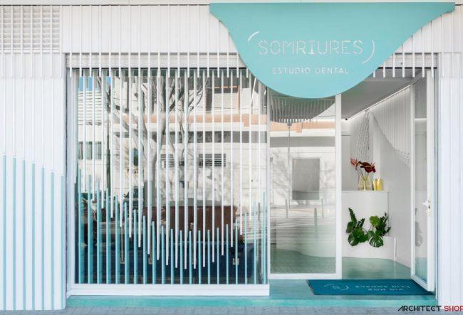 طراحی کلینیک دندان پزشکی Somriures در اسپانیا