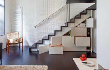 طراحی خلاقانه پله های مدرن و منحصر به فرد با نمایی دراماتیک