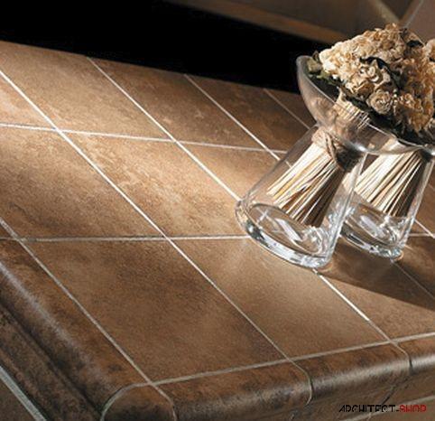 ایده های طراحی کانتر آشپزخانه و حمام با استفاده از کاشی - Tile counter 10