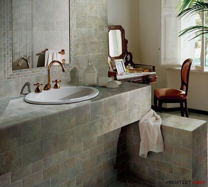 ایده های طراحی کانتر آشپزخانه و حمام با استفاده از کاشی - Tile counter 11