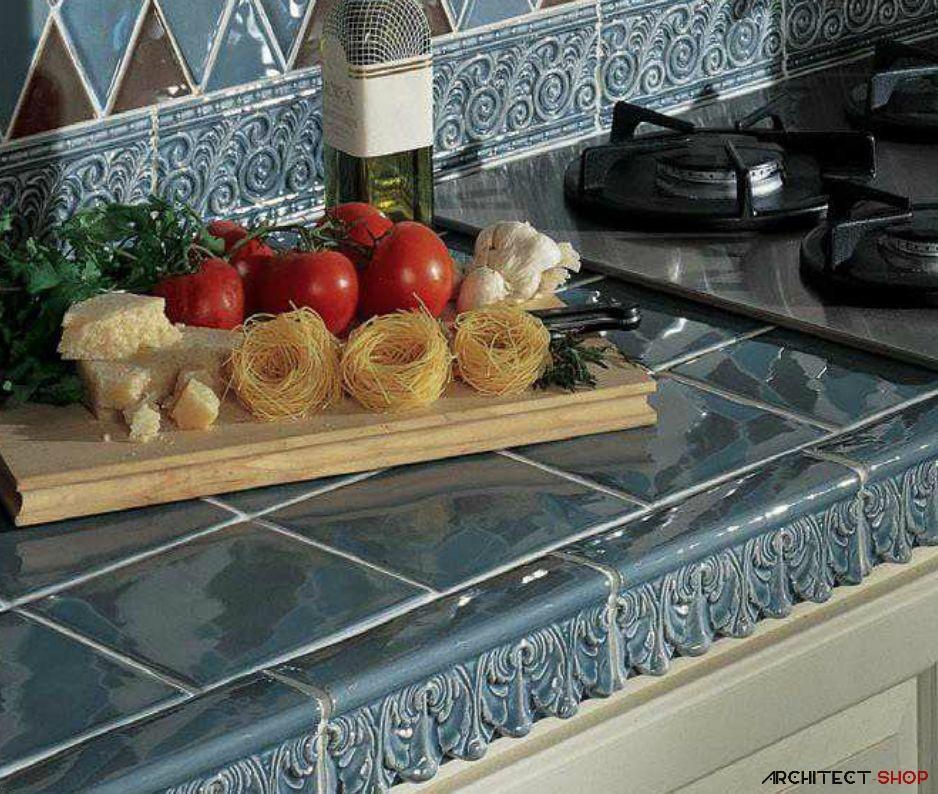 ایده های طراحی کانتر آشپزخانه و حمام با استفاده از کاشی - Tile counter 3