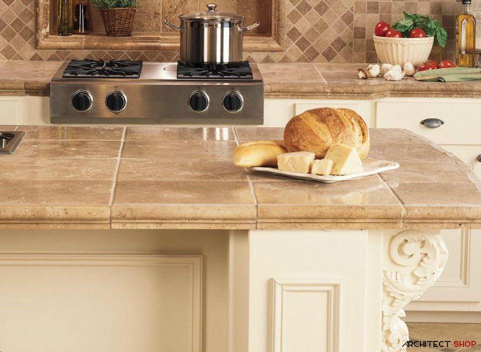 ایده های طراحی کانتر آشپزخانه و حمام با استفاده از کاشی - Tile counter 4