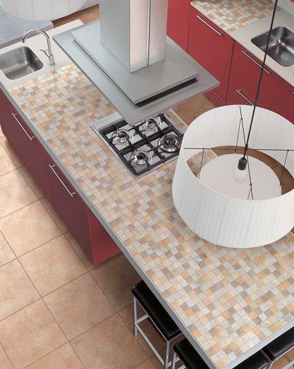 ایده های طراحی کانتر آشپزخانه و حمام با استفاده از کاشی - Tile counter 5