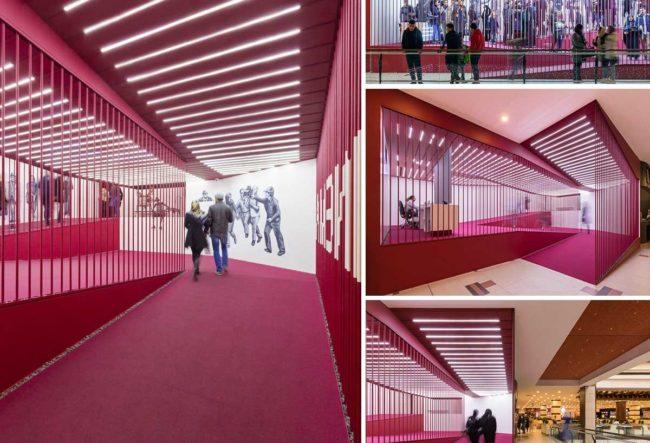 طراحی لابی سینما تیراژه Crimson Sequence توسط Admun Studio
