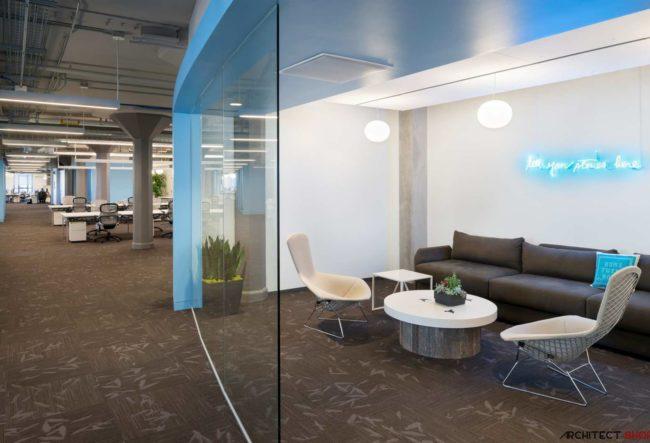 طراحی دفتر مرکزی شرکت Twitter در سانفرانسیسکو