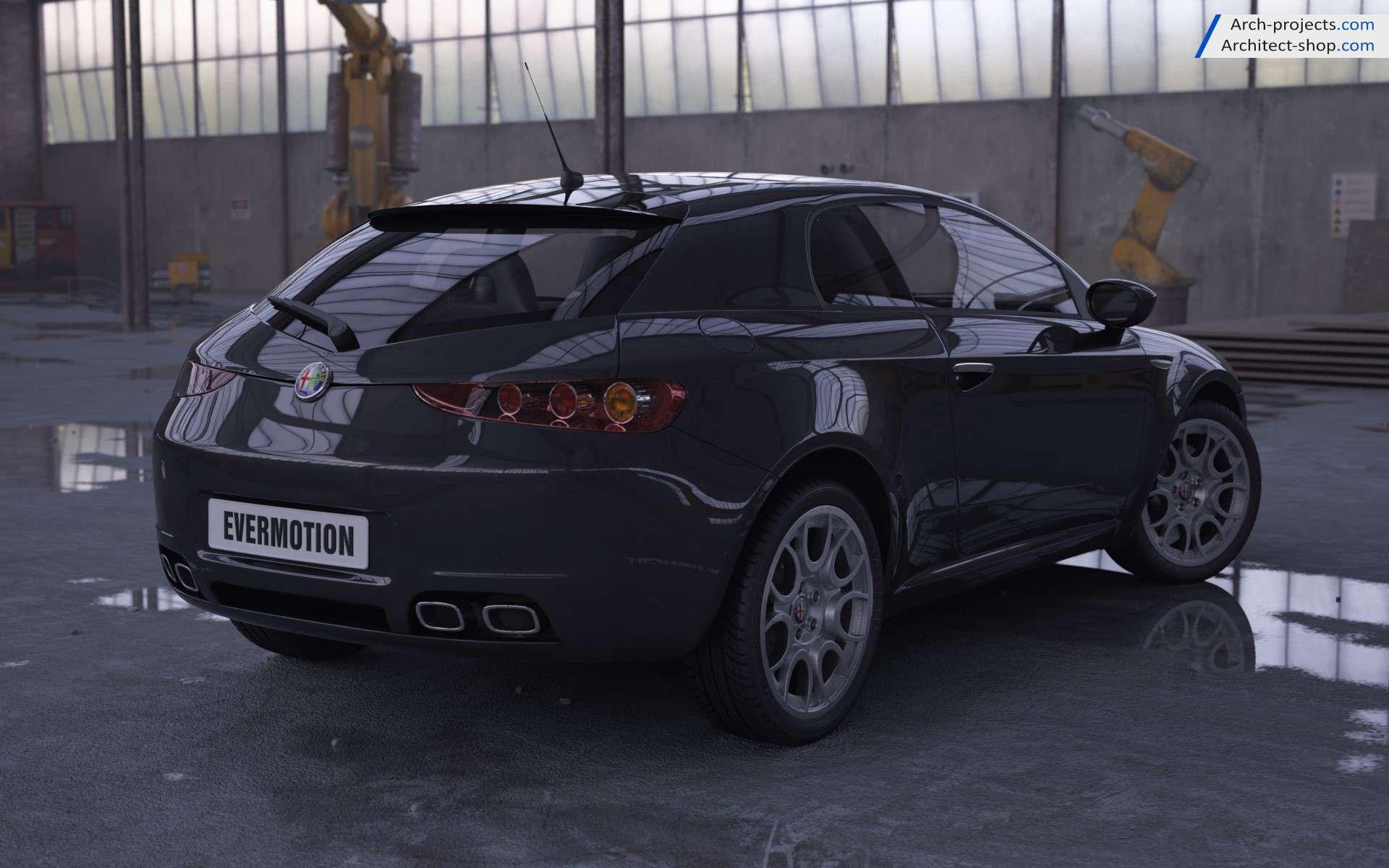 مدل سه بعدی 3dmax اتومبیل