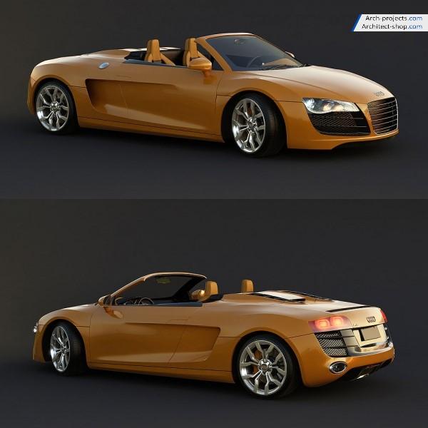 مدل سه بعدی آئودی