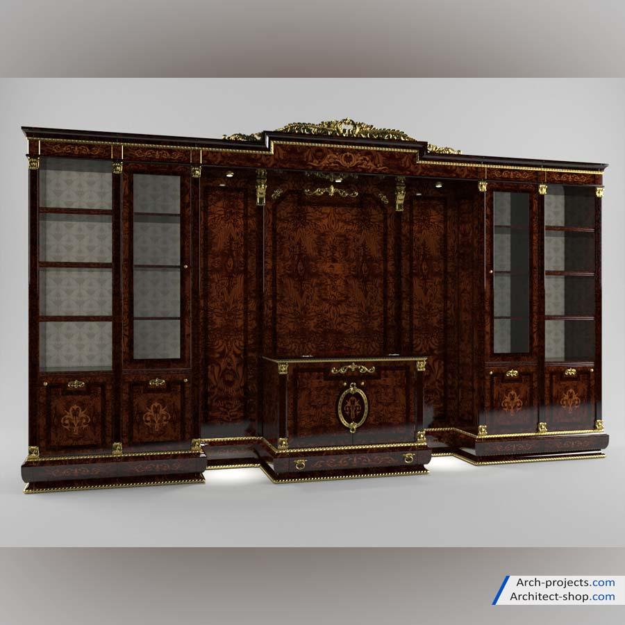 مدل سه بعدی میز تلویزیون کلاسیک