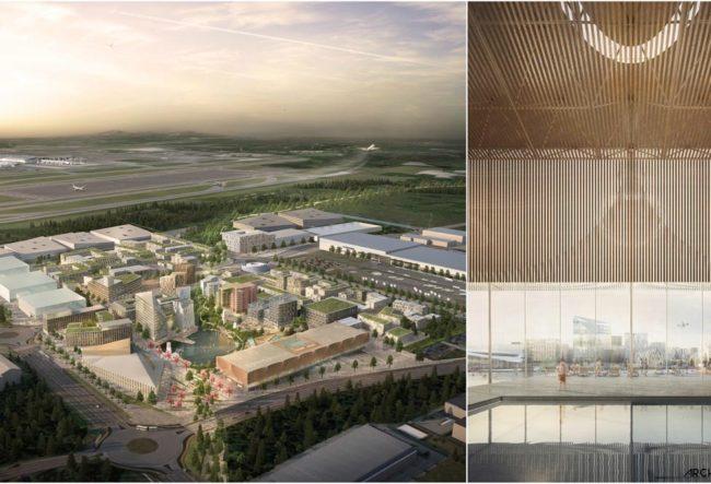 طراحی هواپیماهای الکتریکی و ماشین های بدون راننده برای اولین شهر فرودگاهی پایدار جهان