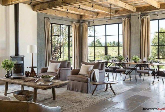 طراحی خانه تفریحی Healdsburg Ranch با تلفیق معماری سنتی و شهری