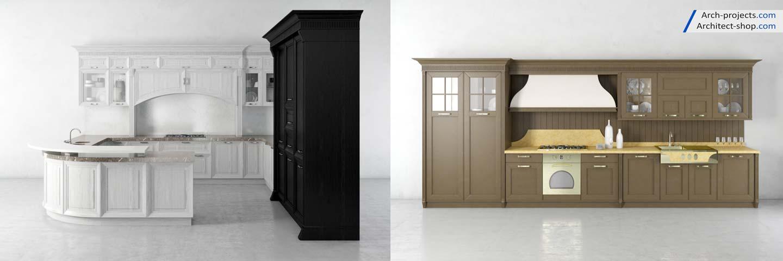 پک آبجکت کابینت و لوازم آشپزخانه - kitchen 3dmodel 10