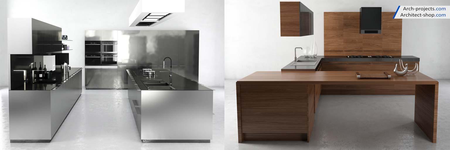 پک آبجکت کابینت و لوازم آشپزخانه - kitchen 3dmodel 11