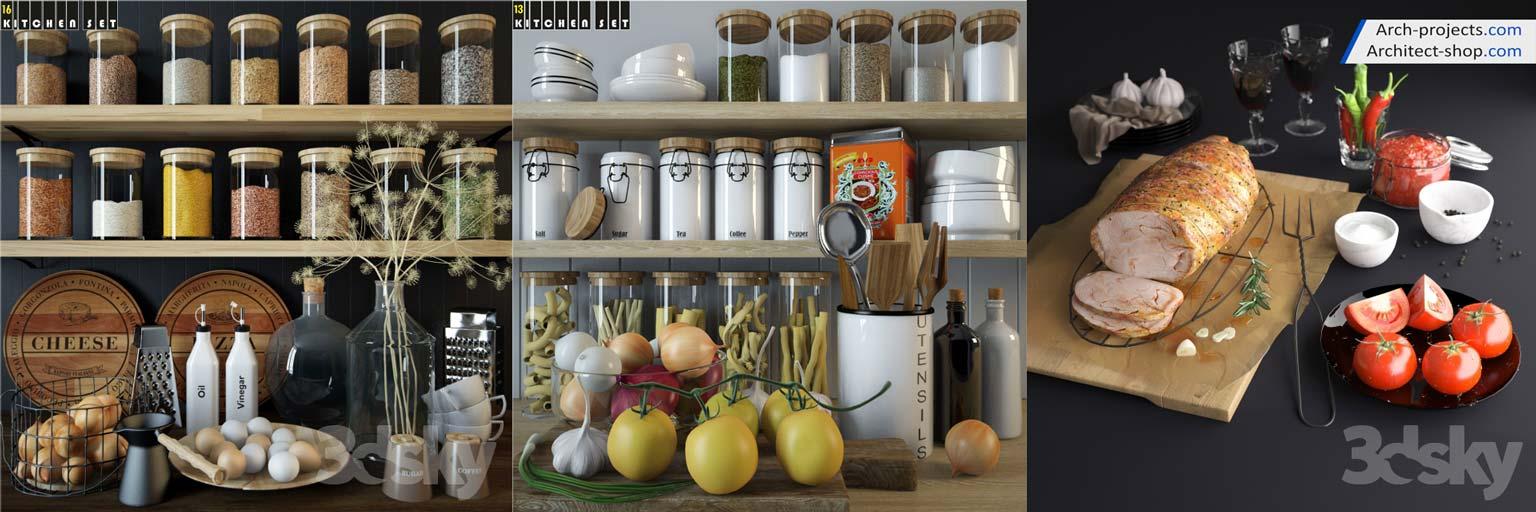 مدل ظروف آشپزخانه