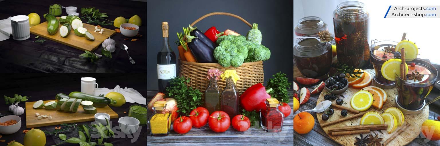 آبجکت میوه و سبزیجات