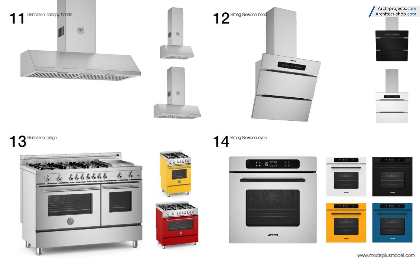 مدل سه بعدی لوازم خانگی آشپزخانه