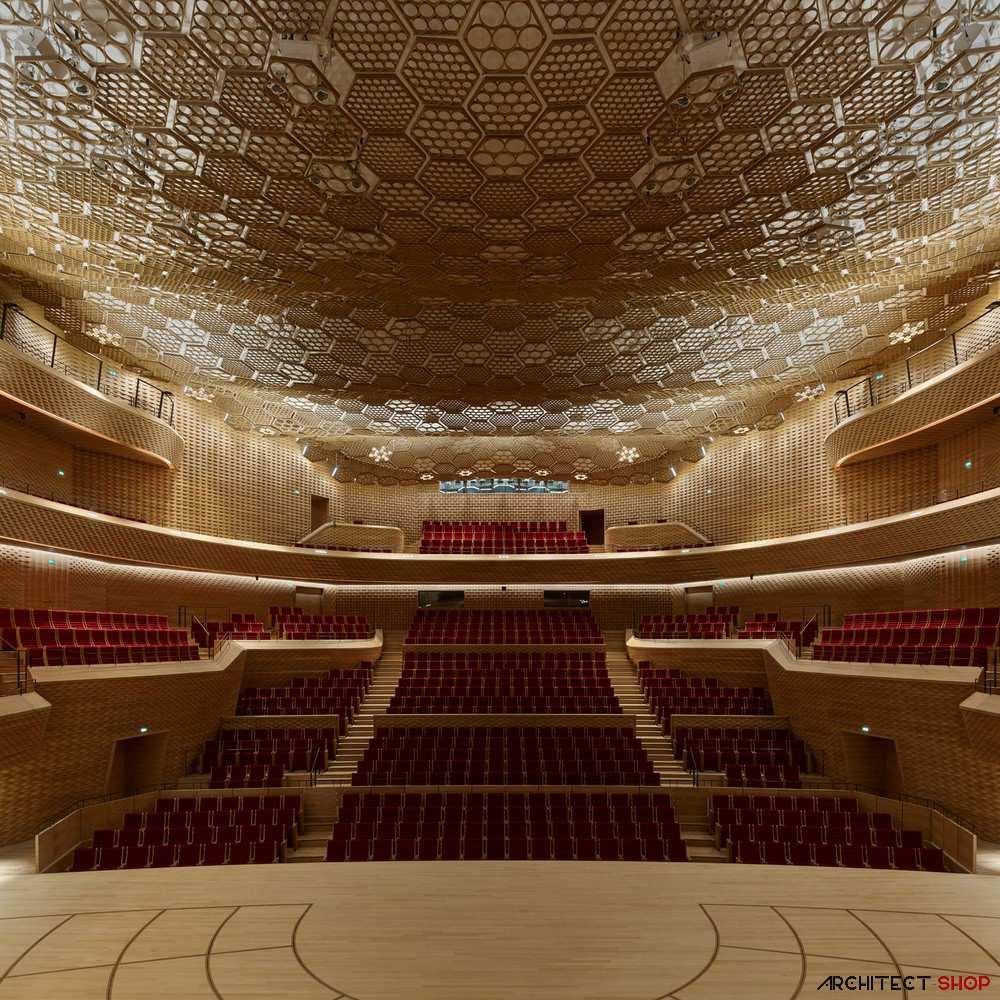 طراحی داخلی سالن کنسرت