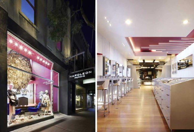 طراحی فروشگاه لوازم آرایشی در استرالیا