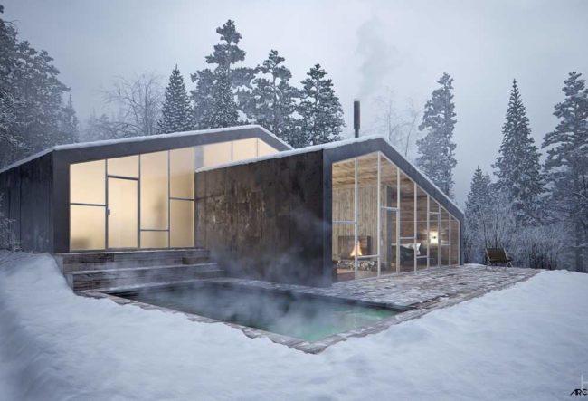 طراحی داخلی کلبه مدرن