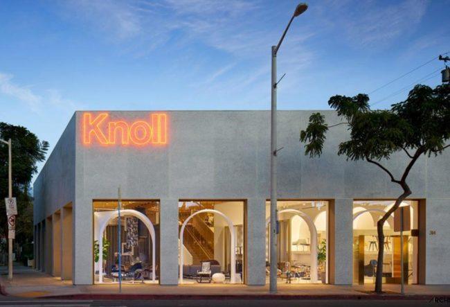 طراحی داخلی فروشگاه مبلمان Knoll توسط شرکت معماری Johnston Marklee