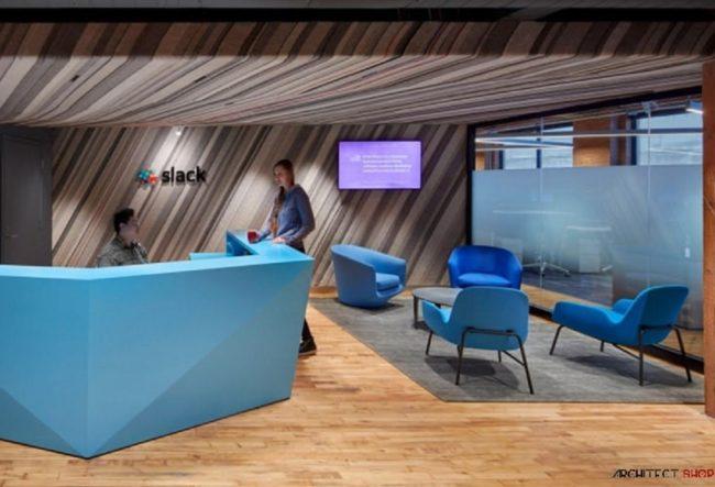طراحی دفتر کار Slack در کانادا