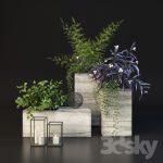 مدل سه بعدی گلدان 3dmax