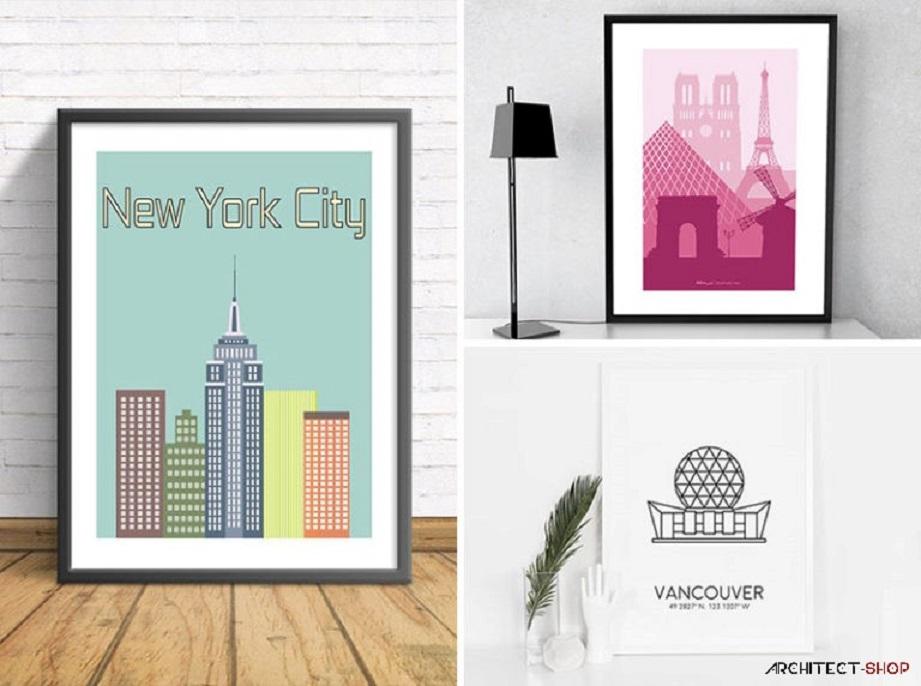 ایده های خلاقانه دکوراسیون - دیوار های خود را با نقاشی های هنری از شهر های مورد علاقه تان پر کنید - Art Prints 20