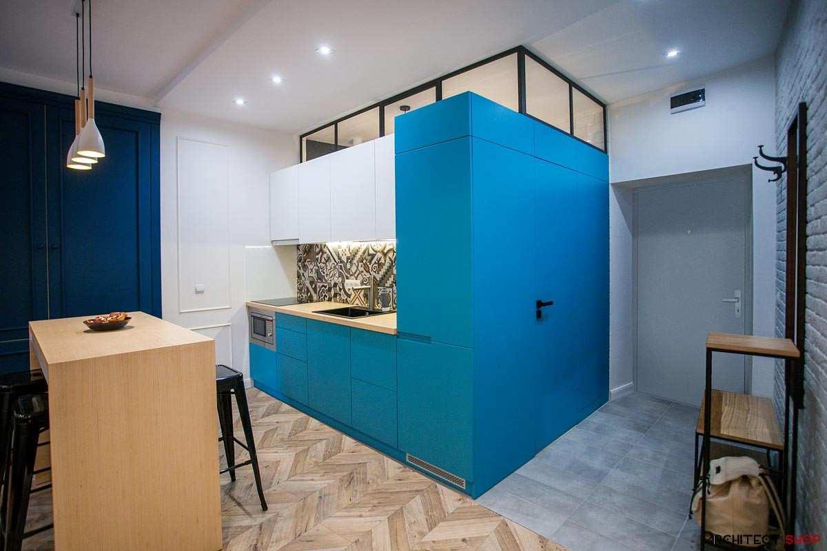 طراحی 30 نمونه آشپزخانه به رنگ آبی - Blue Kitchens 11