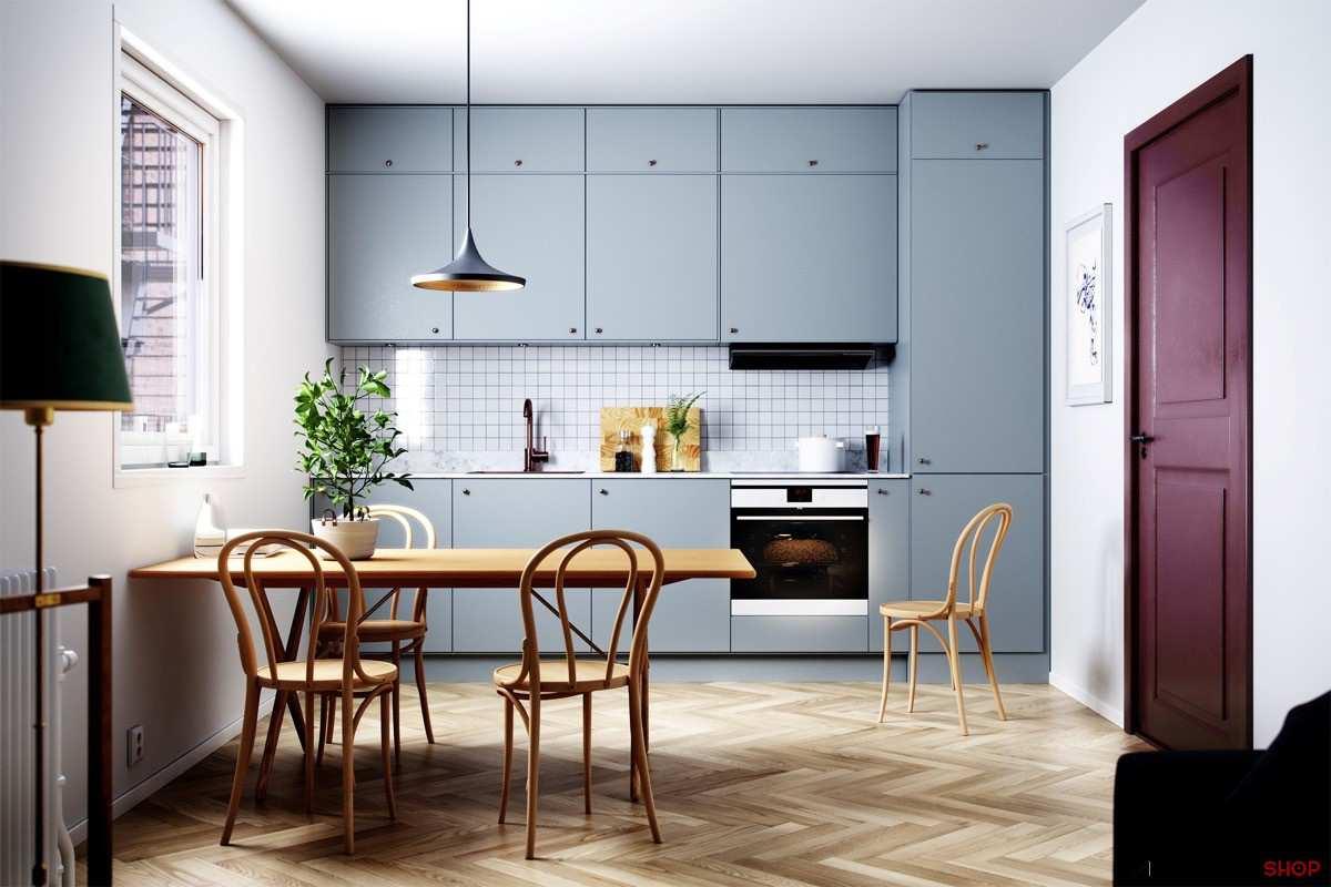 طراحی 30 نمونه آشپزخانه به رنگ آبی - Blue Kitchens 13