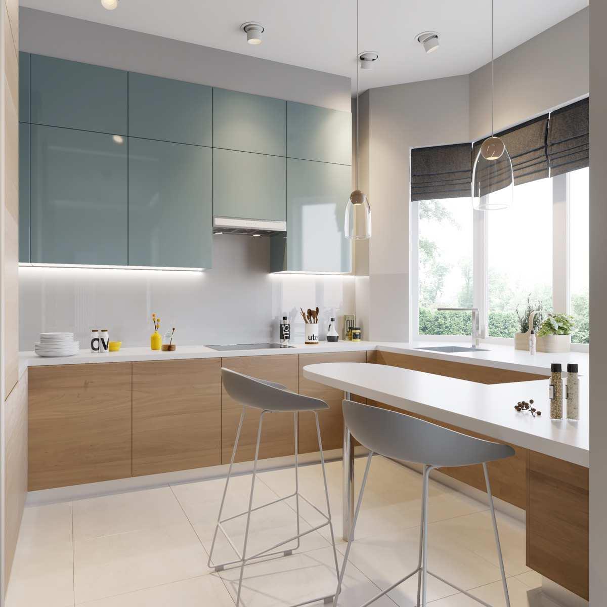 طراحی 30 نمونه آشپزخانه به رنگ آبی - Blue Kitchens 14