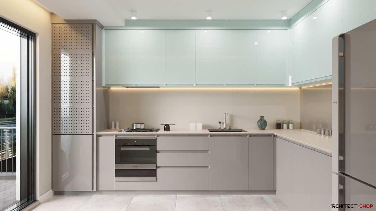 طراحی 30 نمونه آشپزخانه به رنگ آبی - Blue Kitchens 15
