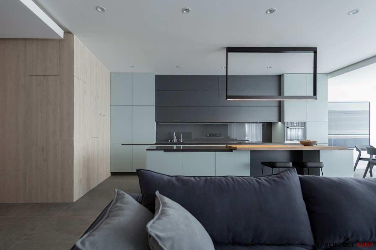 طراحی 30 نمونه آشپزخانه به رنگ آبی - Blue Kitchens 16