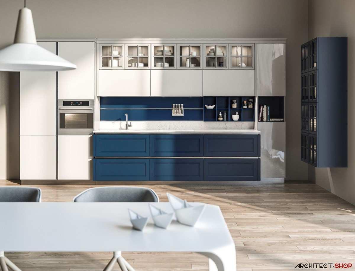 طراحی 30 نمونه آشپزخانه به رنگ آبی - Blue Kitchens 22