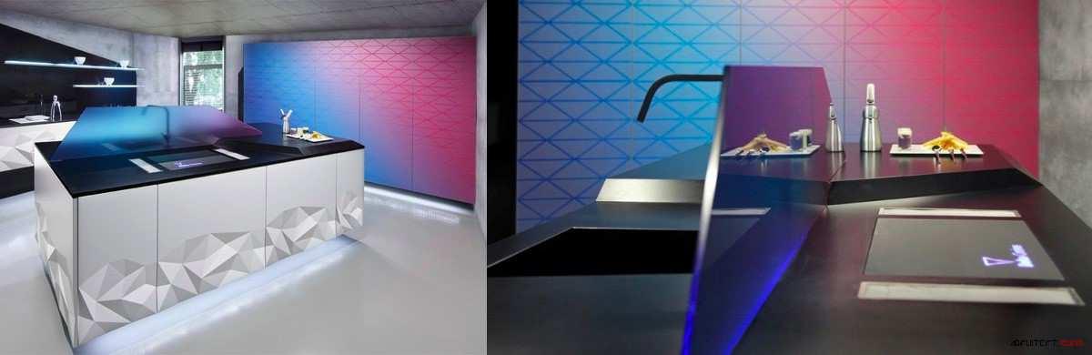طراحی 30 نمونه آشپزخانه به رنگ آبی - Blue Kitchens 28
