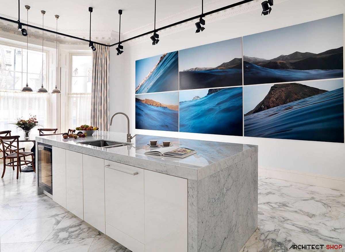 طراحی 30 نمونه آشپزخانه به رنگ آبی - Blue Kitchens 29