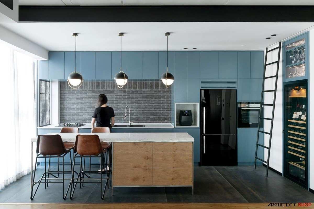 طراحی 30 نمونه آشپزخانه به رنگ آبی - Blue Kitchens 9