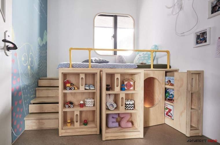 طراحی اتاق کودک با فضایی مخفی