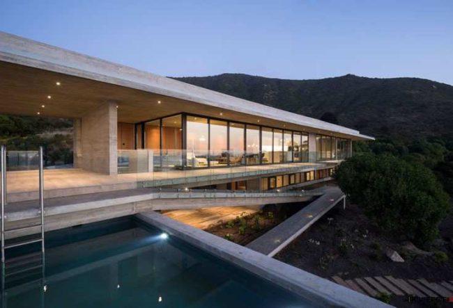 طراحی خانه تفریحی در شیلی