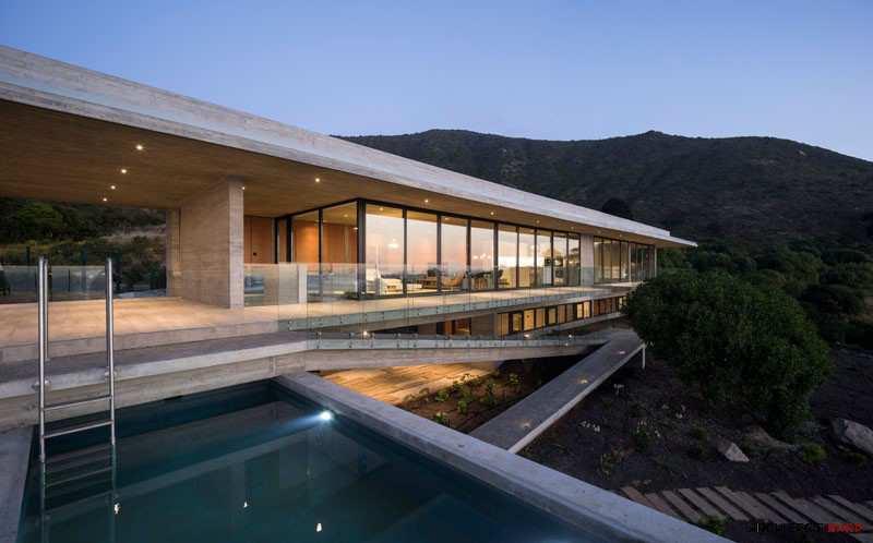 طراحی خانه تفریحی در شیلی - House H 1 2
