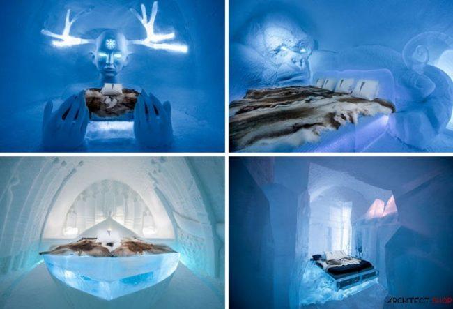 طراحی هتل یخی با سوئیت های جادویی