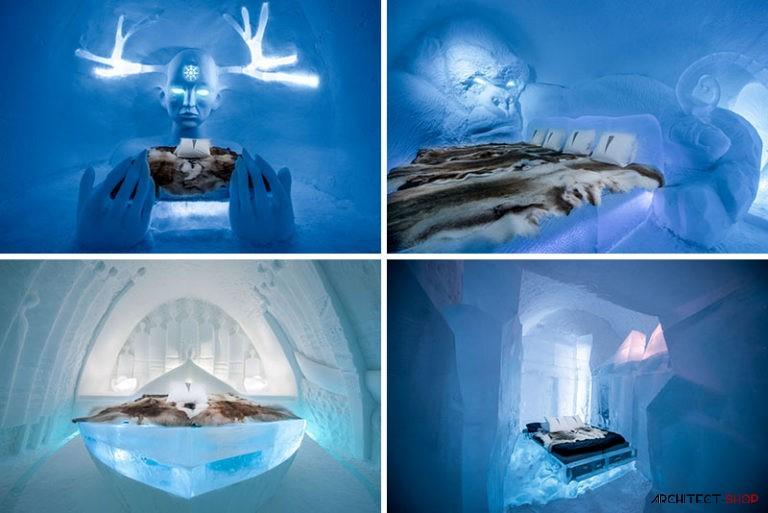 طراحی هتل یخی با سوئیت های جادویی - ICE HOTEL 1