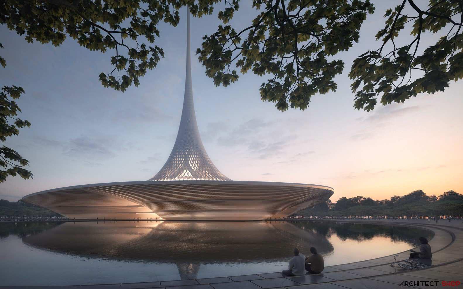 طراحی پایتخت شهر هند به سبک معماری هایتک - New Capital of Andhra Pradesh 2