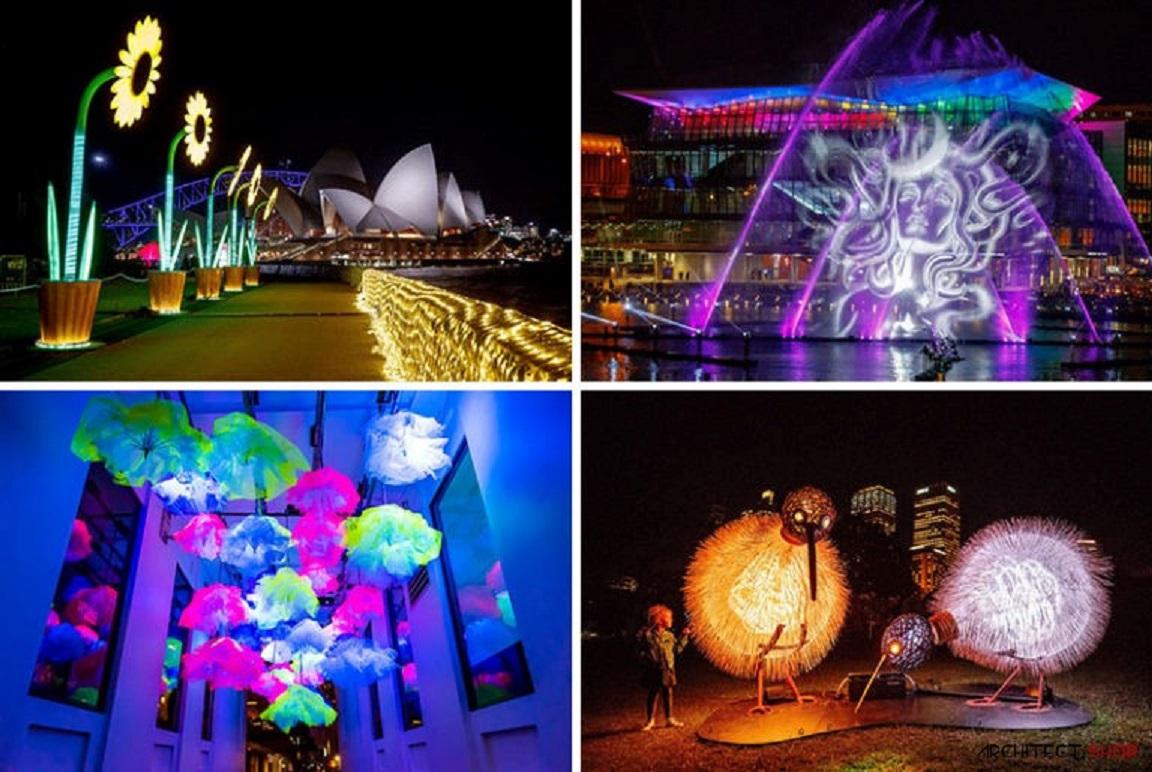 اینستالیشن های نورانی و رنگارنگ در سیدنی - VIVID Sydney Lights 30