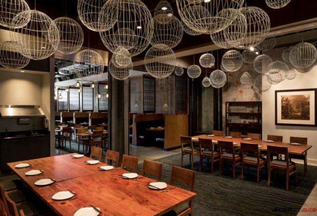طراحی رستوران به سبک آسیای شرقی در آمریکا