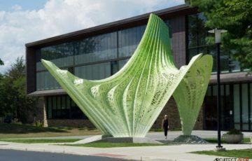 طراحی خلاقانه المان آلومینیومی در رود آیلند