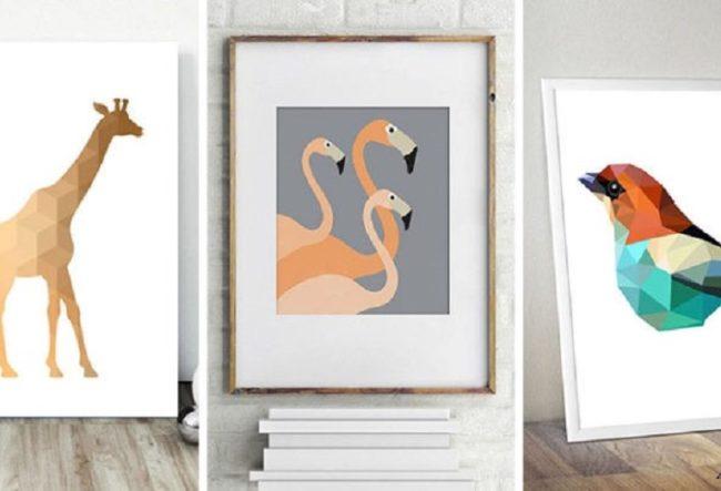 طراحی 13 تابلو هنری مدرن با تصاویری از حیوانات